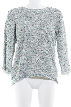 H&M Rundhalspullover wollweiß-grüngrau schlichter Stil