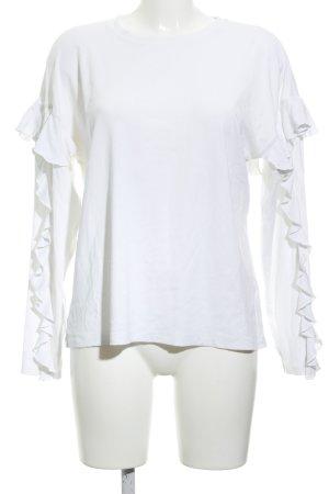 H&M Rundhalspullover wollweiß schlichter Stil