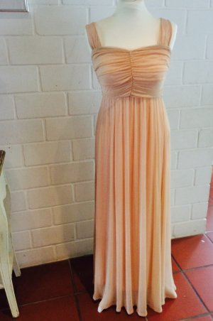 H&M S /XS Nude Kleid Retro Vintage Blogger Style Maxikleid Abendkleid