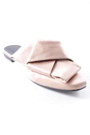 H&M Sabots dusky pink wet-look