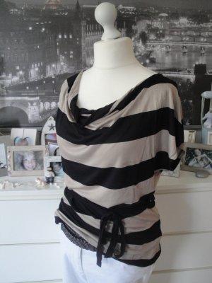 H&M * % SALE % Edles Viskose Shirt * nougat braun-schwarz * L=38/40