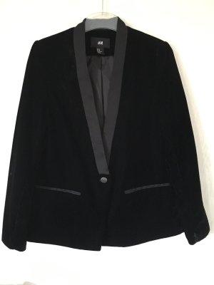 H&M Samtblazer schwarz *40*