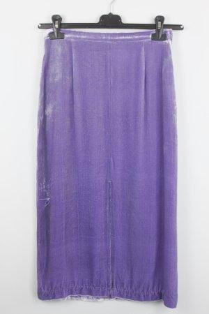 H&M Samtrock Maxirock Gr. 36 lila (18/7/008)