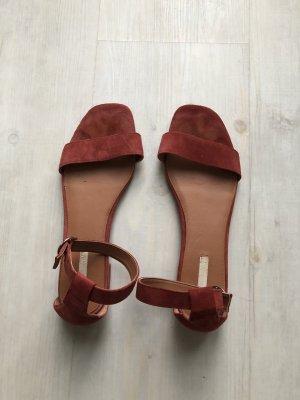 H&M Sandales à lanière rouille-brun rouge