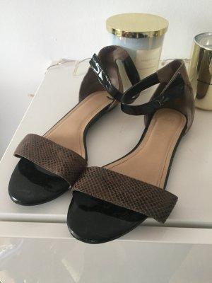 H&M Sandalen mit Schlangenledermuster Gr 39