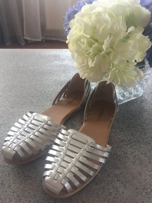 H&M Roman Sandals silver-colored