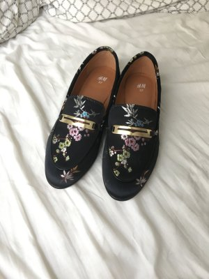 H&M Satin Flower Loafers
