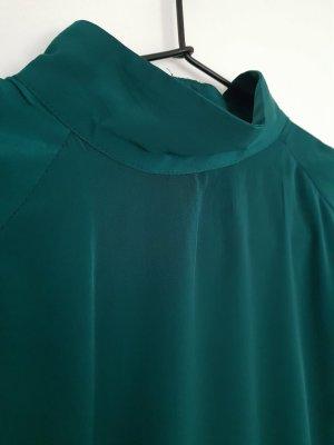 h&m Satin high Neck Bluse grün 36/38 Kleid &other stories cos acne celine