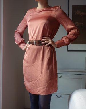 H&M Satin Midi Kleid nude rose Gr. S 38 NEU!
