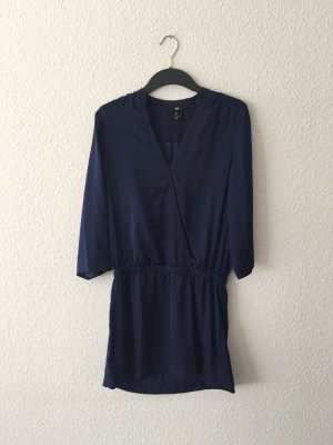 H&M Satin-Minikleid royalblau 34