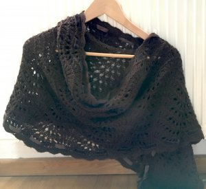 H&M Knitted Scarf brown wool