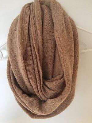 H&M Schal beige braun camel loopschal rundschal Strick