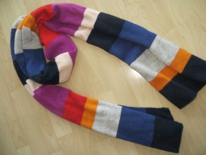 H&M Schal bunt Streifen Regenbogen