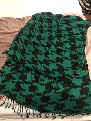 H&M Gebreide sjaal bos Groen-zwart