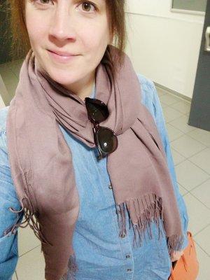 H&M Sjaal grijs-lila