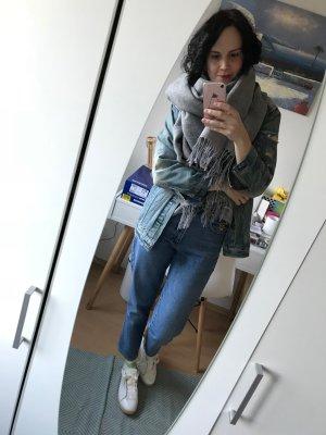 H&M Schal Oversize XXL Scarf grau Fansen