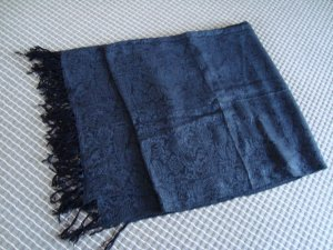 H&M Schal schwarz-blaugrau