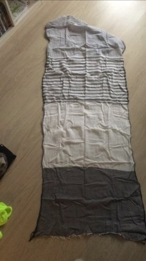 H&M Schal XXL grau mit Muster