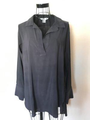 H&M Schicke Crêpe-Bluse dunkelgrau/anthrazit