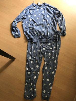 H&M Schlafanzug PJ Pyjama Lounge Home Wear Stars Sterne