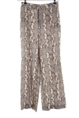 H&M Pantalón de campana estampado de animales elegante