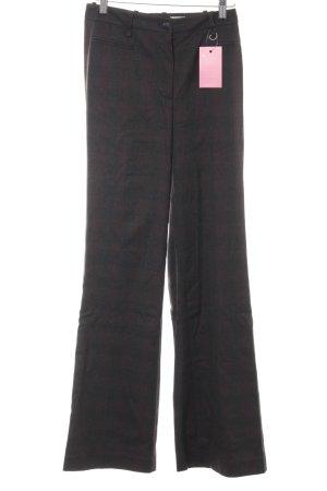 H&M Pantalon pattes d'éléphant gris brun motif à carreaux