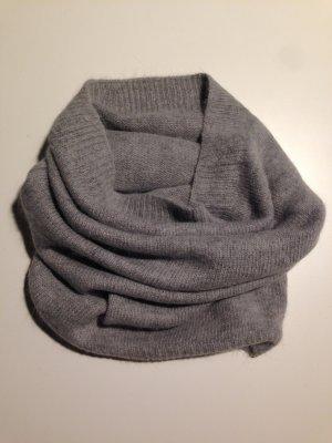 H&M Schlauch Schal Wollmischung grau