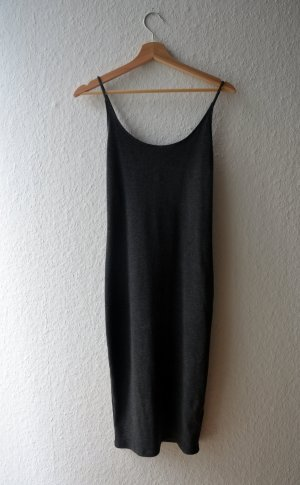 H&M Tube Dress dark grey cotton