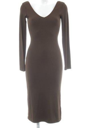 H&M Vestido de tubo marrón oscuro elegante