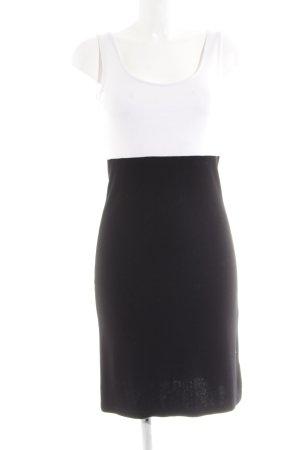 H&M Vestido de tubo blanco-negro look casual