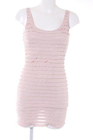 H&M Tubejurk rosé gestreept patroon casual uitstraling