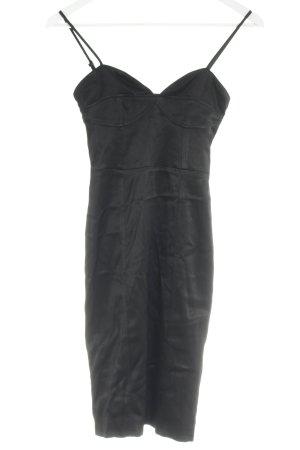 H&M Schlauchkleid schwarz Glanz-Optik