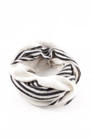 H&M Tube Scarf white-black striped pattern casual look
