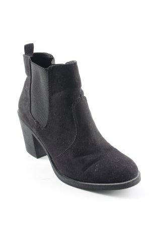 H&M Schlüpf-Stiefeletten schwarz klassischer Stil