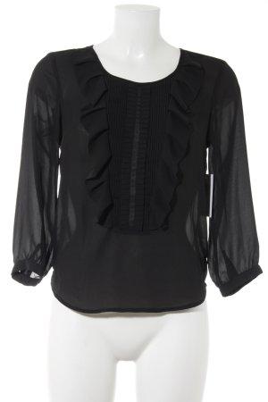 H&M Schlupf-Bluse schwarz Business-Look