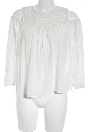 H&M Schlupf-Bluse weiß Romantik-Look