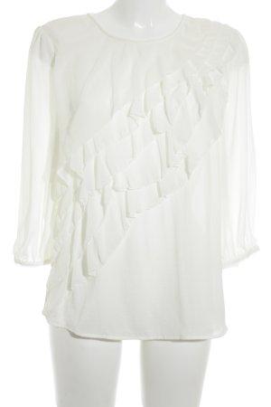 H&M Blouse à enfiler blanc style romantique