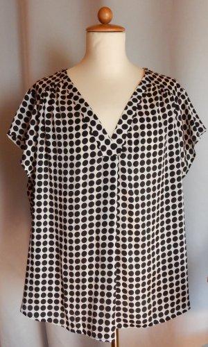 H&M Blouse à enfiler noir-blanc polyester