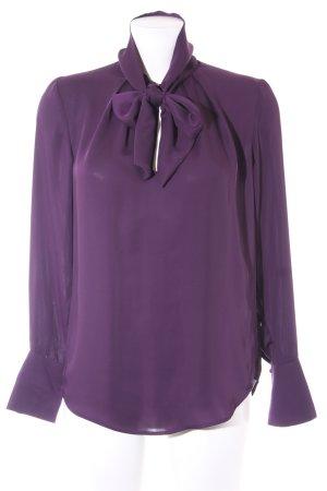 H&M Schluppen-Bluse dunkelviolett Elegant