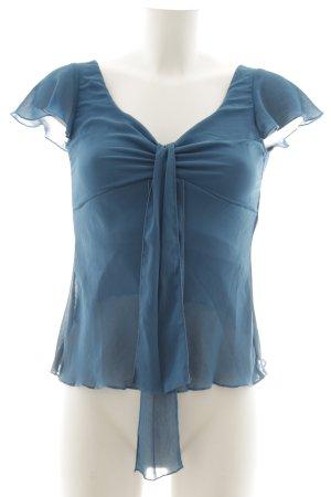 H&M Schluppen-Bluse petrol Elegant