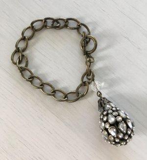 H&M Schmuck Armband mit Anhänger Kristallsteine Statement Charm