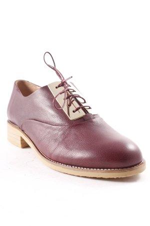 H&M Scarpa stringata bordeaux stile casual