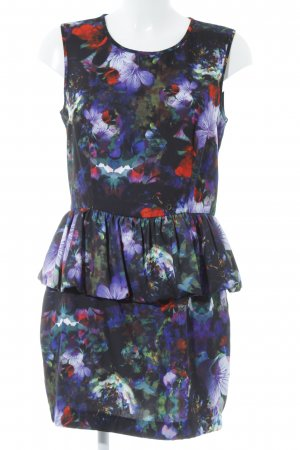 H&M Peplum Dress floral pattern casual look