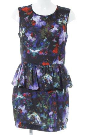 H&M Vestido peplum estampado floral look casual