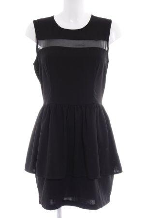 H&M Schößchenkleid schwarz Elegant