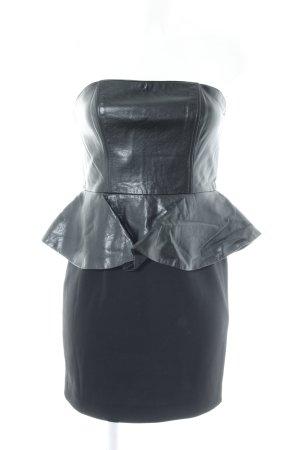 H&M Peplum jurk zwart feest stijl