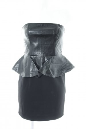 H&M Vestido peplum negro estilo fiesta