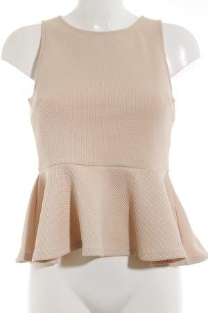 H&M Peplum top stoffig roze romantische stijl