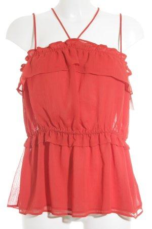 H&M Schößchentop rot Romantik-Look