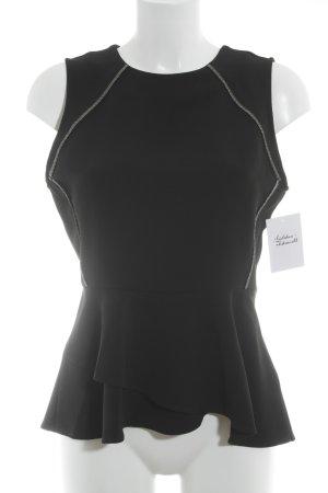 H&M Schößchentop schwarz klassischer Stil